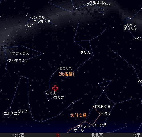 2008 12 22 こぐま座流星群星図