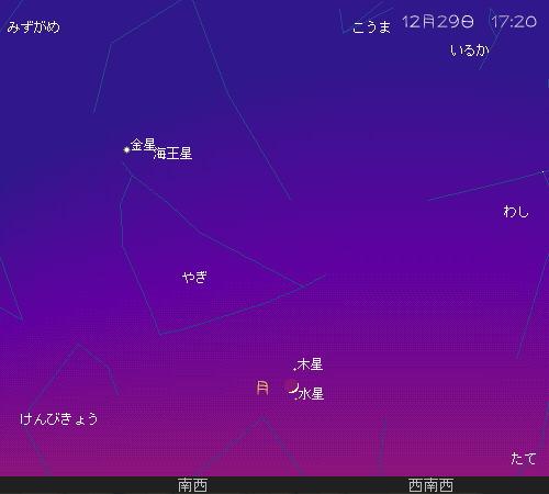 2008 12 29 ~ 1 01 行く年来る年12 29星図