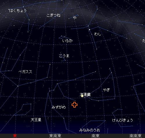 2009 7  28 みずがめ座δ(デルタ)南流星群星図