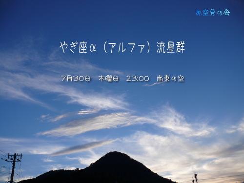2009 7  30 やぎ座α(アルファ)流星群