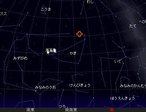 2009 7  30 やぎ座α(アルファ)流星群星図