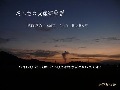 2009 8 13 ペルセウス座流星群