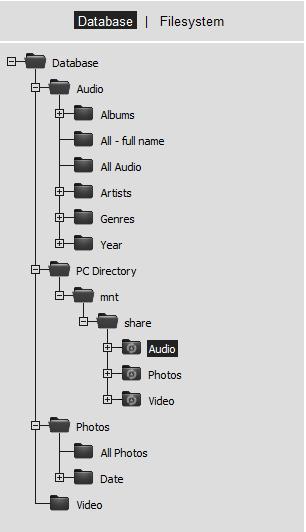 Mediatombの設定画面