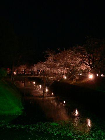 09年松本城お堀のライトアップ