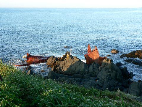 納沙布岬の座礁船