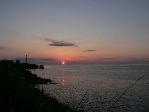 納沙布岬から見る夕日
