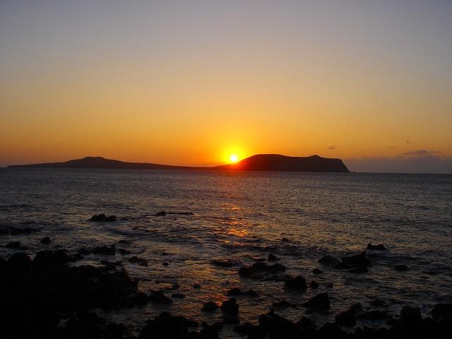 嵯峨の島夕日