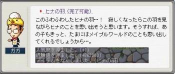ヒナの羽 (3)