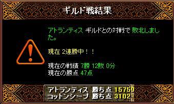 12/17 Gv結果 アトランティス さん