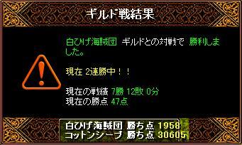 1/21 Gv結果 白ひげ海賊団 さん