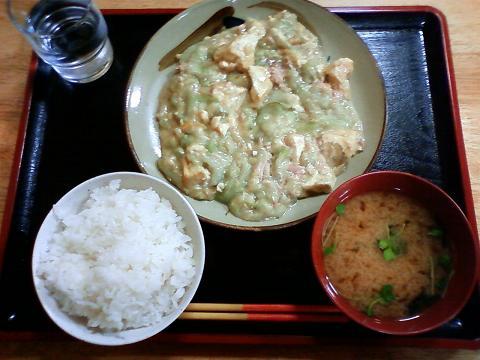 ヘチマの味噌炒め定食