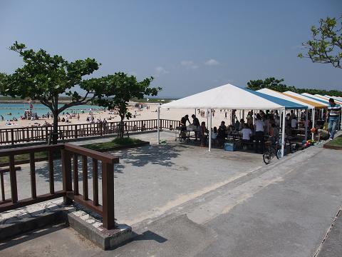 トロピカルビーチ テント