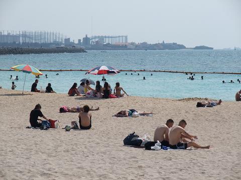トロピカルビーチ 砂浜