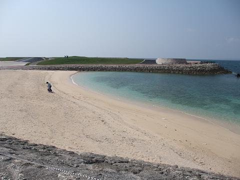 トロピカルビーチ 遊泳禁止側