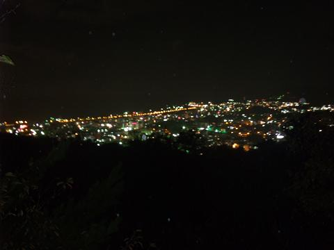 名護市の夜景 名護城跡から