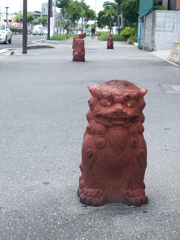 シーサー 石川道の駅前