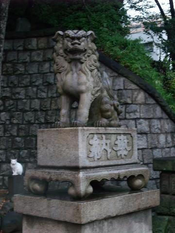 品川神社 シーサー 雄