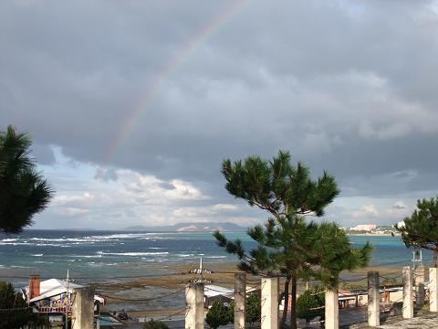 恩納村の虹 002