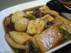 豆腐とうずら卵