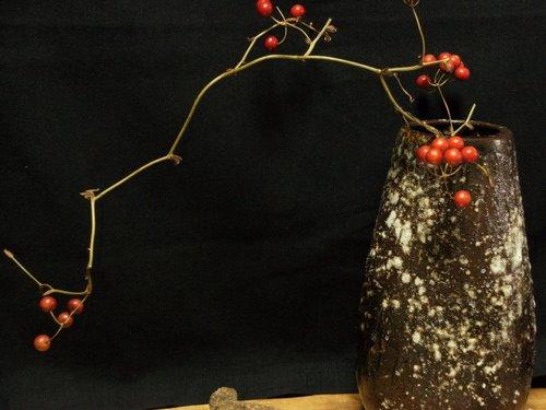 信楽焼花器1