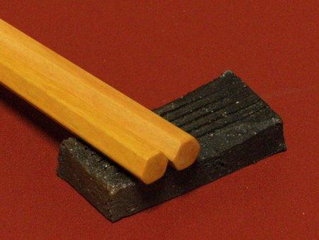 箸置き黒箸黄楊