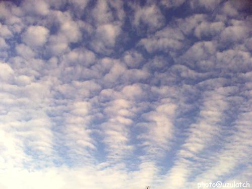 放射状の雲