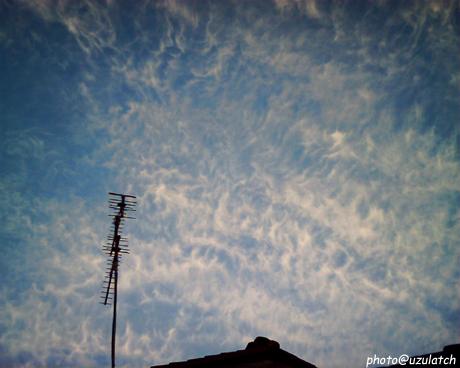 今年初の晴れ空