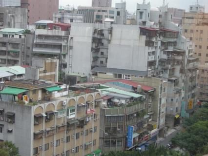 三徳飯店 窓外
