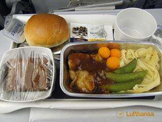 機内食夕食