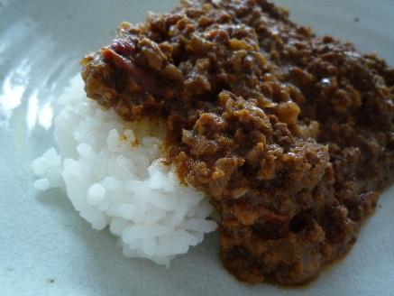 ひき肉のカレー1