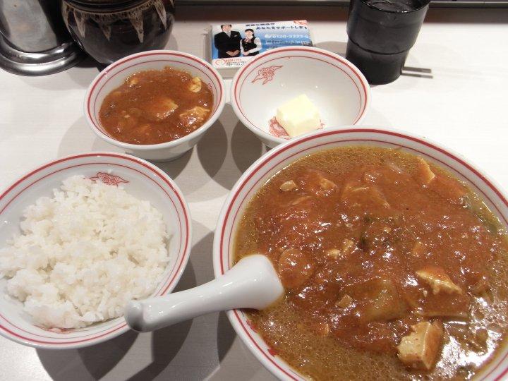 蒙古タンメン+定食+バター