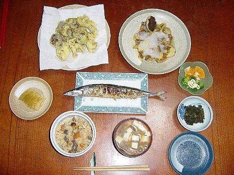 2005 10 26 夕食若菜用