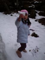 雪だよぉ!