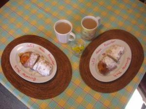 やっと朝食