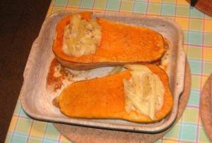 バターナッツスクオッシュ調理例