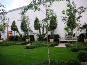 グラスハウス中庭