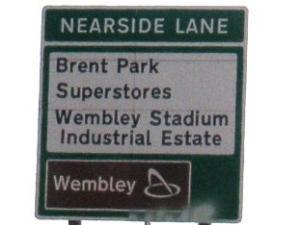 sign of wembly stadium
