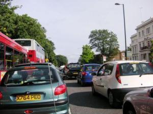 ハンプトンコート前の渋滞状況