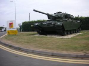 戦車が置いてある!