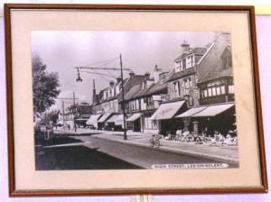 近くの町のハイストリート・その昔