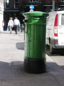 緑のポスト