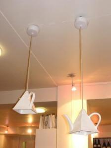 ティーポットのランプシェード
