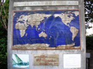 航路を示す世界地図