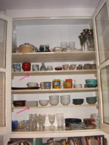 本棚から食器棚へ
