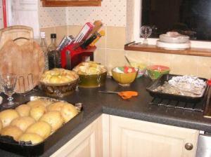 食事の下準備完了