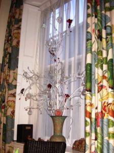 ダイニングルームのクリスマス装飾