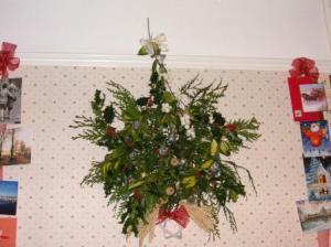 室内に持ち込んだクリスマス飾り