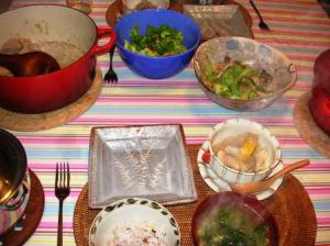 マルメロとラムの食卓風景