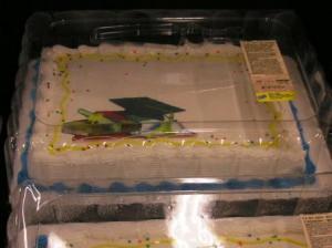 卒業記念ケーキ