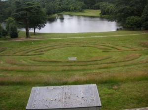 looking down from above the amphitheatre